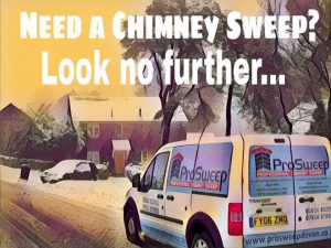 ProSweep Chimney sweep in the snow